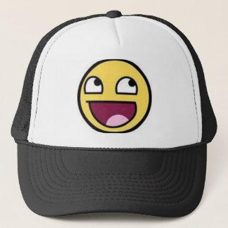 AWSOME FACE TRUCKER HAT