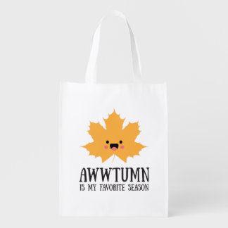 Awwtumn is my Favorite Season | Reusable Tote