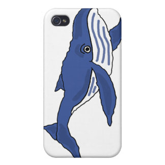 AX- Blue Whale Cartoon iPhone 4 Cases
