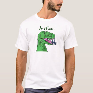 AX- T-Rex eating oil rig shirt- Justice T-Shirt