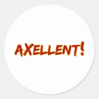Axellent! Classic Round Sticker