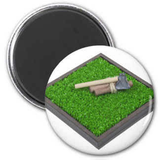 AxeLogsOnLawn112611 6 Cm Round Magnet