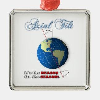 Axial tilt christmas ornament