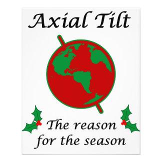 Axial Tilt Reason for the Season 11.5 Cm X 14 Cm Flyer