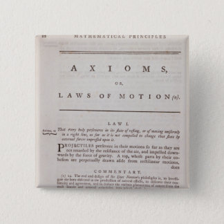 Axioms, or Laws of Motion, from Volume I 15 Cm Square Badge