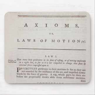 Axioms, or Laws of Motion, from Volume I Mouse Mat