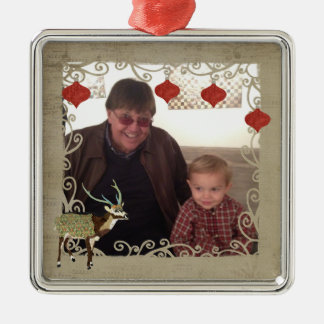 Axis Deer Christmas Photo Ornament