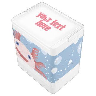 Axolotl and the Bubbles Bold Vector Design Igloo Cool Box