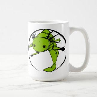 Axolotl circle (green) mug