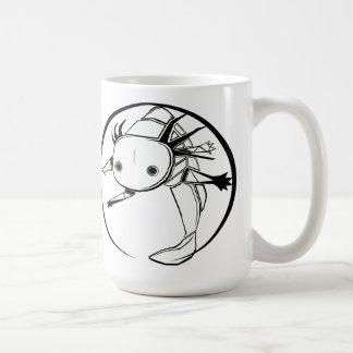 Axolotl circle (white) mug