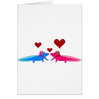 Axolotl in Love Greeting Card