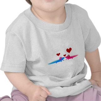 Axolotl in Love Shirts