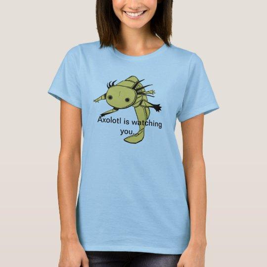 Axolotl is watching youT Shirt (golden albino)