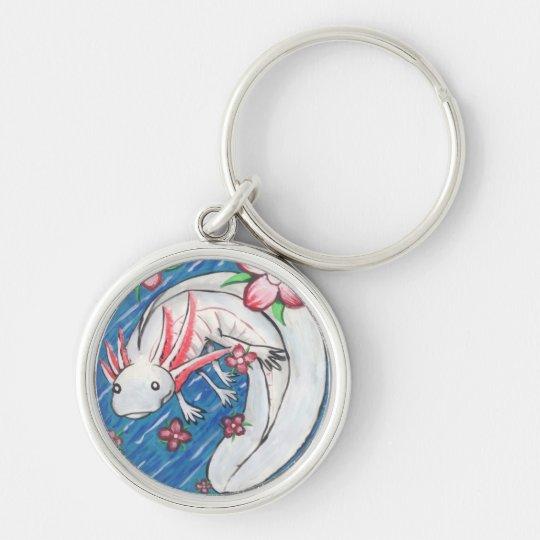 axolotl painting keychain