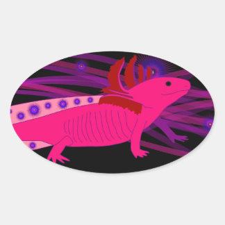 Axolotl Pinky Oval Sticker