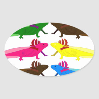 Axolotl sample oval sticker