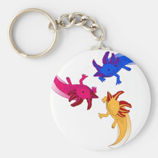 Axolotl trio key ring