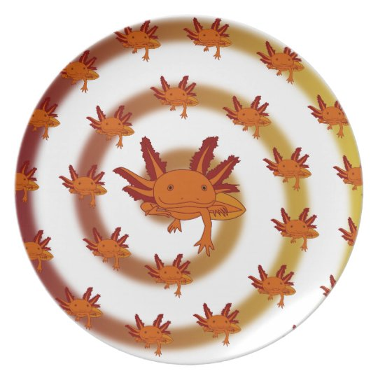 Axolotl vortex orange plate