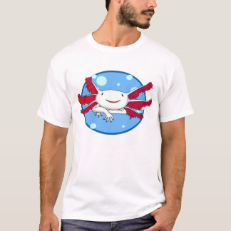 axolotl (white no spots) bubble shirt