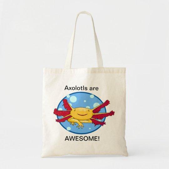 Axolotls are Awesome! (Golden Albino) Bubbles bag