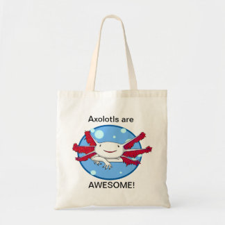 Axolotls are awesome (white) bubbles bag