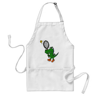 AY- Funny Gator Playing Tennis Standard Apron