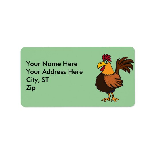 AY- Funny Rooster Address Labels