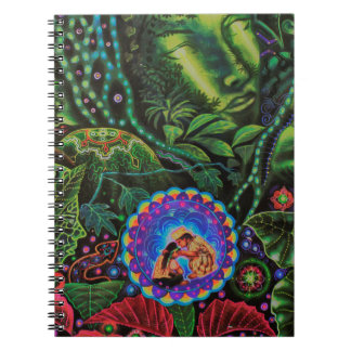 Ayahuasca Vision Spiral Notebook