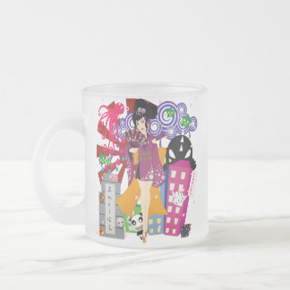 Ayaka in Harajuku Town Frosted Glass Coffee Mug