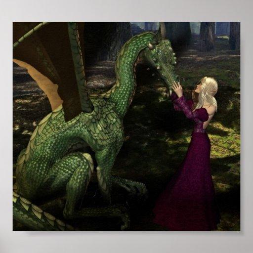 Ayana and the Dragon Print