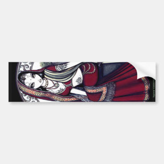 Ayanna Hindi Bindi Sari Fairy Bumper Sticker
