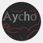 Aycho Classic Round Sticker