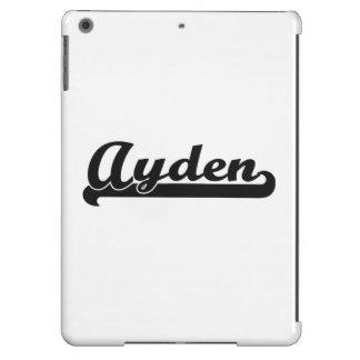 Ayden Classic Retro Name Design iPad Air Cases