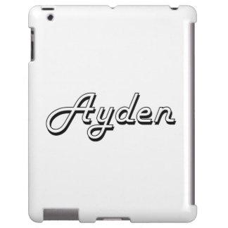 Ayden Classic Retro Name Design iPad Case