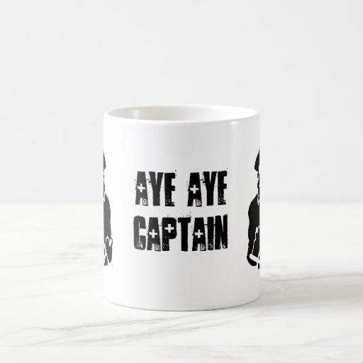 Aye aye captain Cup Coffee Mugs