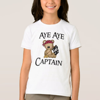 Aye Aye Captain Teddy Bear Pirate Ringer T-Shirt