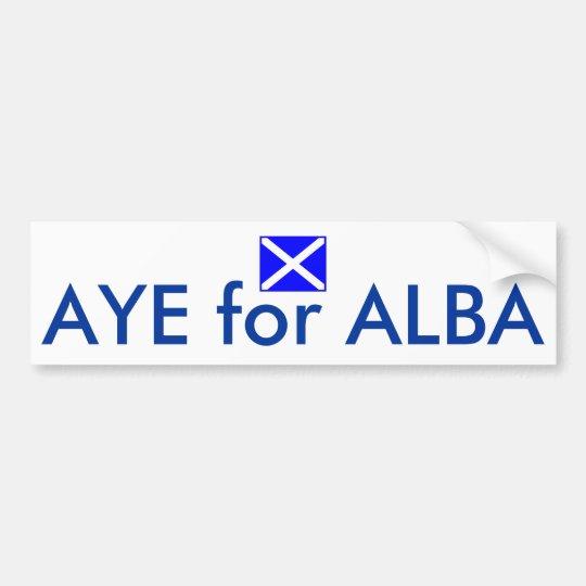 Aye for Alba Scottish Independence Flag Sticker