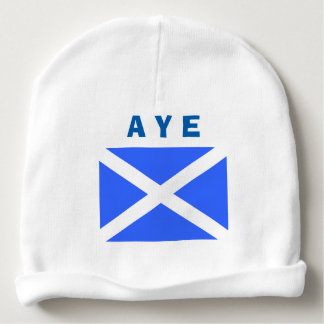 Aye for Scottish Independence Scotland Flag Baby Beanie