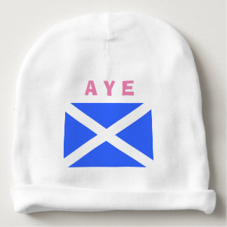 Aye for Scottish Independence Scotland Flag Girl Baby Beanie