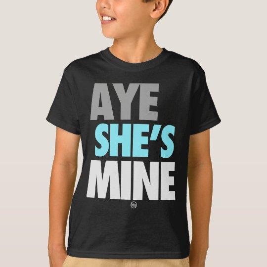 Aye He/She is Mine (Cyan) T-Shirt