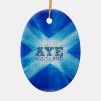 Aye Scotland YES.jpg Ceramic Oval Decoration