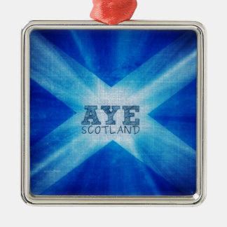 Aye Scotland YES.jpg Silver-Colored Square Decoration