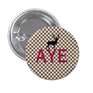 Aye Scottish Independence Highland Stag Badge