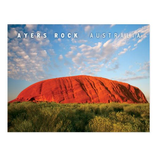 ayers rock in australia post card