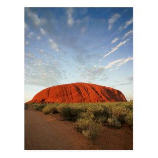 ayers rock in australia postcard