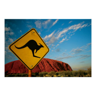 ayers rock kangaroo sign