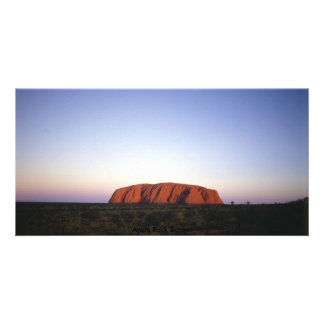 Ayers Rock Photo Card Template