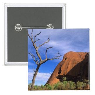 Ayers Rock Uluru in the Outback Australia 15 Cm Square Badge