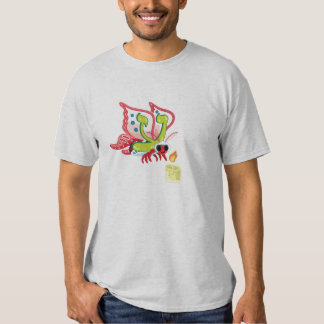 Ayin the Moth, Hebrew Aleph Bet (Alphabet) Tees