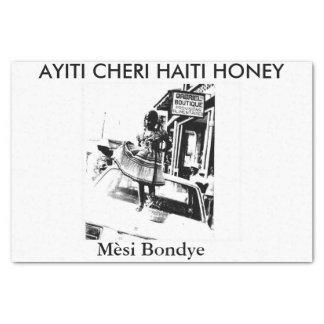"AYITI CHERI HAITI HONEY 10"" X 15"" TISSUE PAPER"